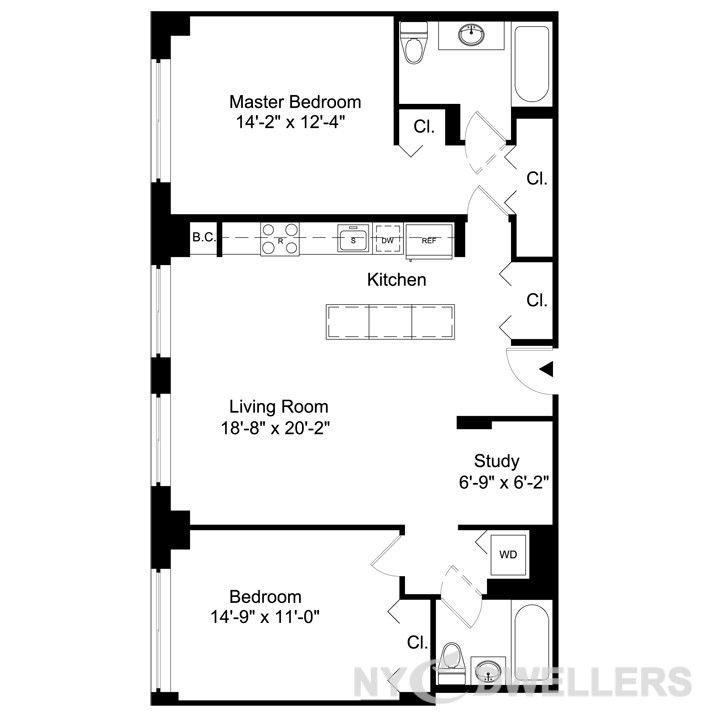 Architecture Plan, Apartments For Rent