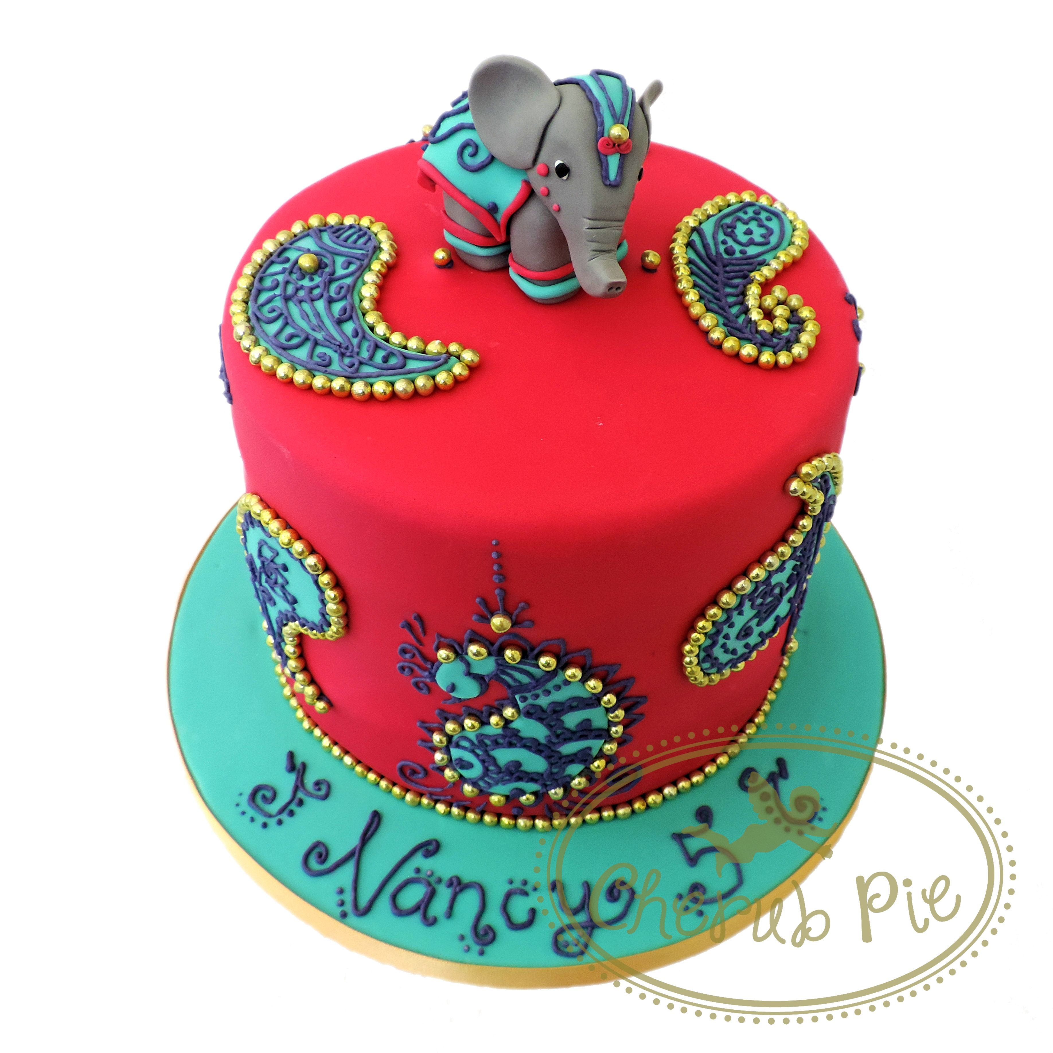 Astonishing Bollywood Elephant Cake Cherub Pie Elephant Birthday Cakes Funny Birthday Cards Online Elaedamsfinfo