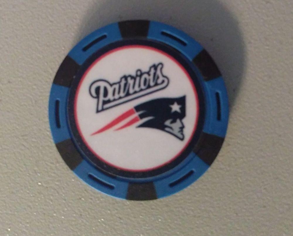 09cc5737d6c Golf Ball Marker Poker Chip New England Patriots Magnetic Favorite Football  Team  TeamGolf  NewEnglandPatriots