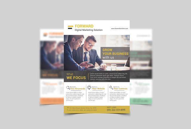 Marketing Flyer Template Psd Free Download  Work Ideas