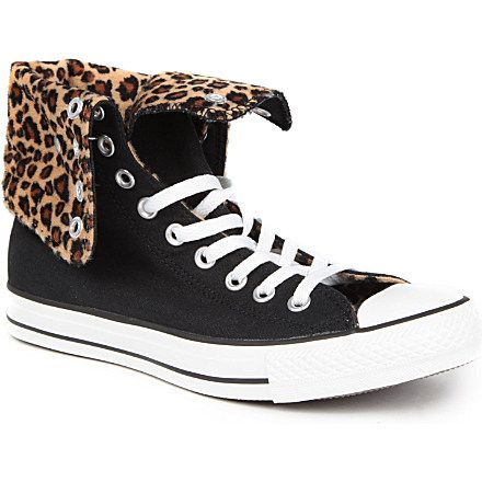 42dec0ee54ed98 CONVERSE X leopard-print All Star high-top trainers (Leopard exclusive