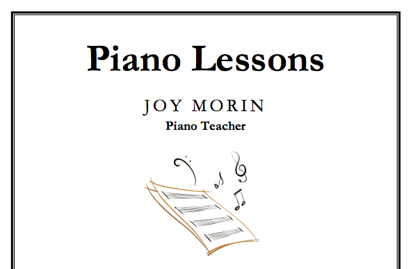 just added  piano lessons flyer template