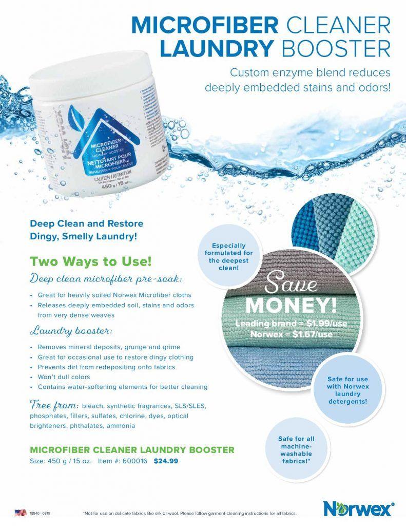 Refresh Old Microfiber With Norwex Microfiber Cleaner Norwex