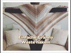 (8) GANZ EINFACHE Granny Weste häkeln / Seelenwärmer häkeln für Anfänger - YouTube #ponchos