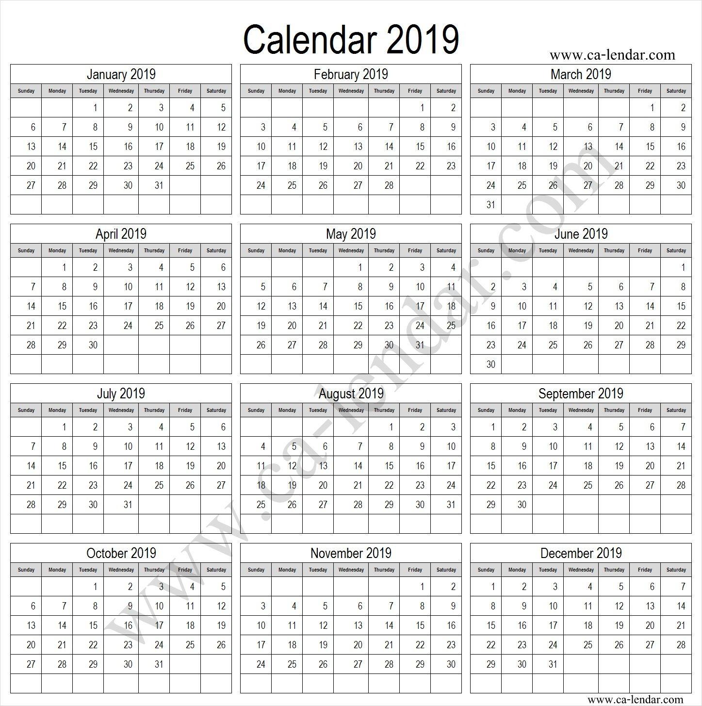 2019 Calendar Tumblr 2019 Calendar Template Pinterest 2019