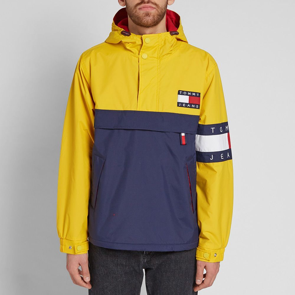 40365e271 Tommy Jeans 90s Colour Block Pullover Jacket in 2019 | Clothes ...