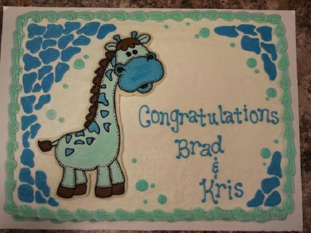 Giraffe Baby Shower Sheet Cakes : Giraffe Baby Shower Cakes And .