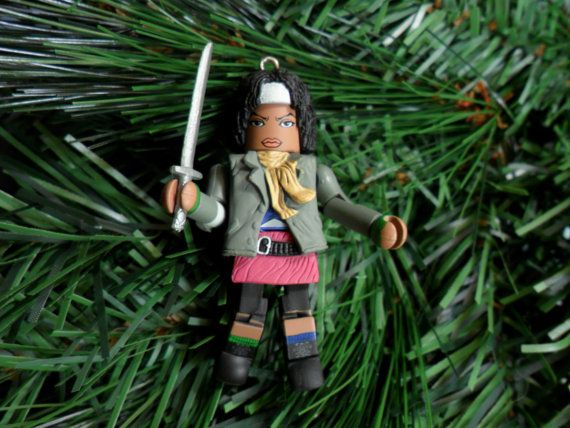 Michonne or Rick Christmas Ornament by chgallery on Etsy, $1900