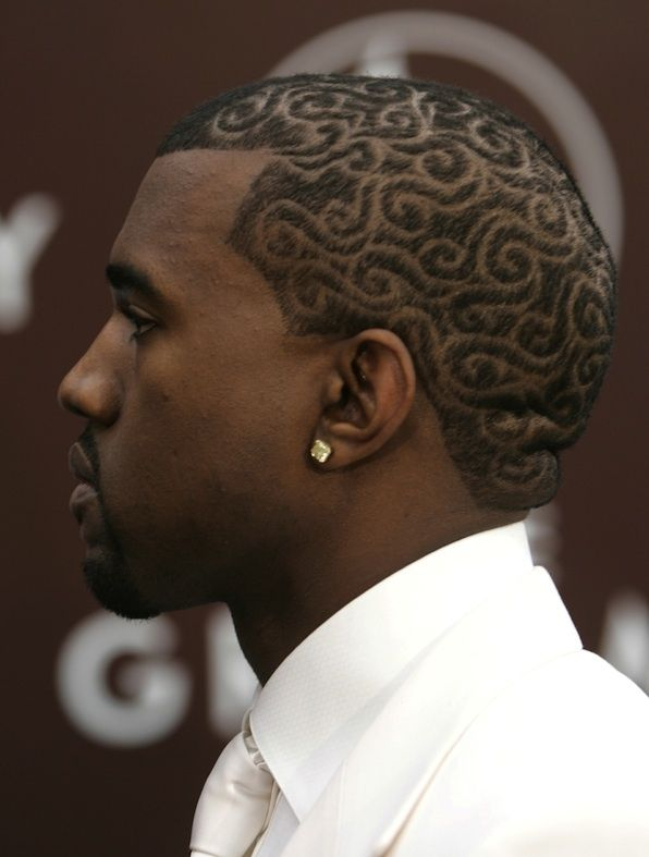 14 Important Grammy Fashion Lessons From Kanye West Hair Designs For Men Shaved Hair Designs Cool Hair Designs