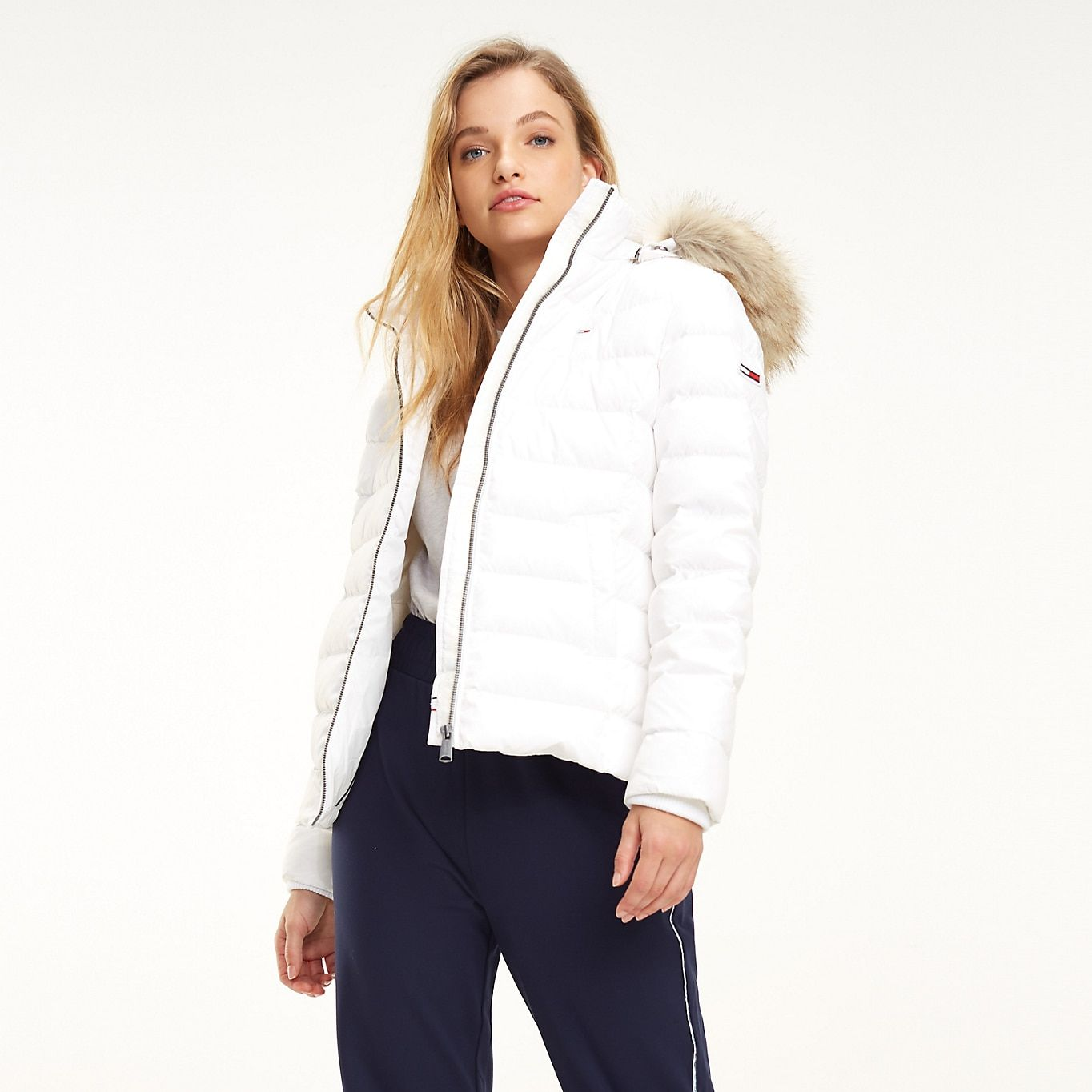 Essential Hooded Down Jacket Tommy Black Tommy Hilfiger Tommy Hilfiger Winter Jacket Jackets Tommy Hilfiger Outfit [ 1364 x 1364 Pixel ]
