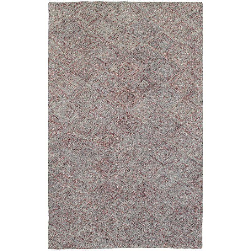 Colorscape Handmade Tufted Wool Gray Rug Grey Geometric Rug Geometric Rug Rugs