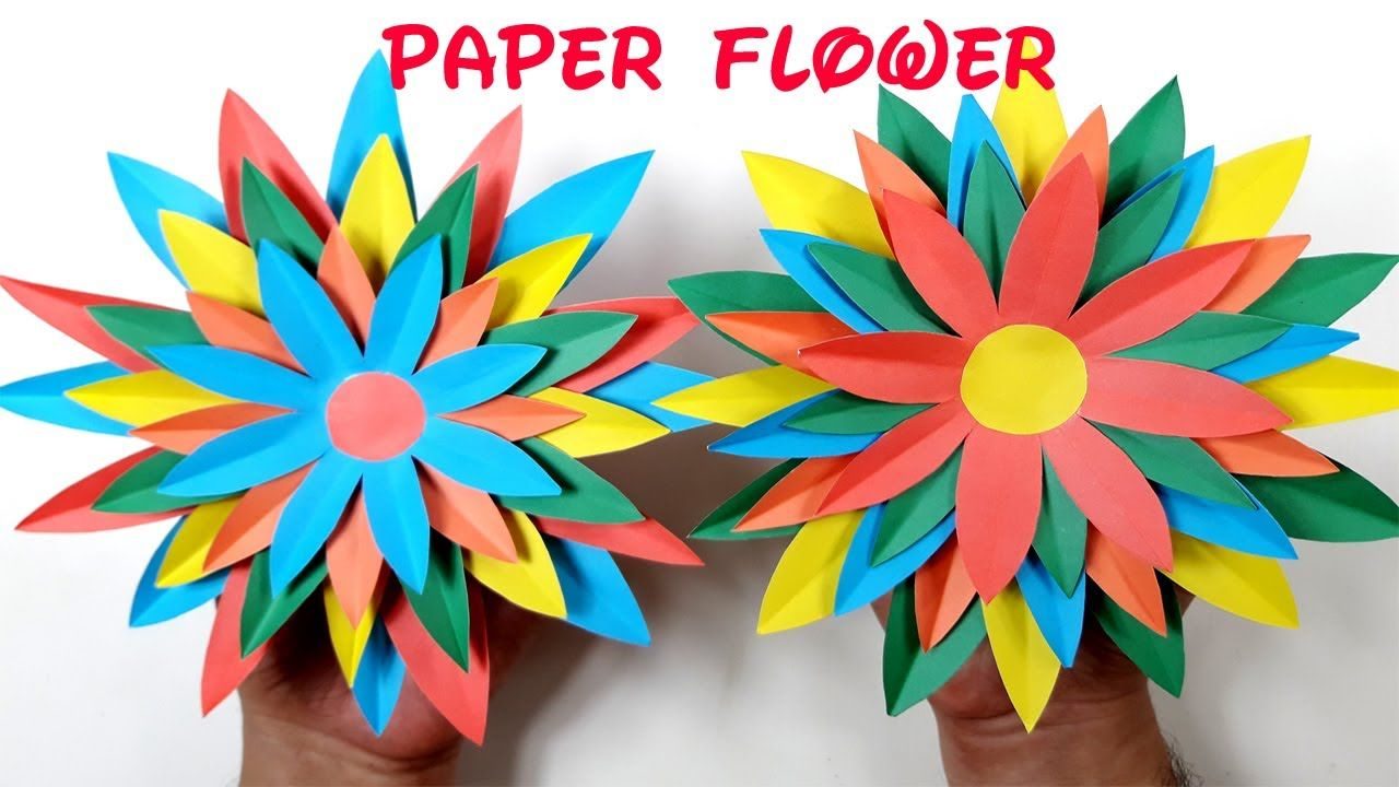 Origami Paper Flower Tutorial How To Make Paper Flowervery Easy