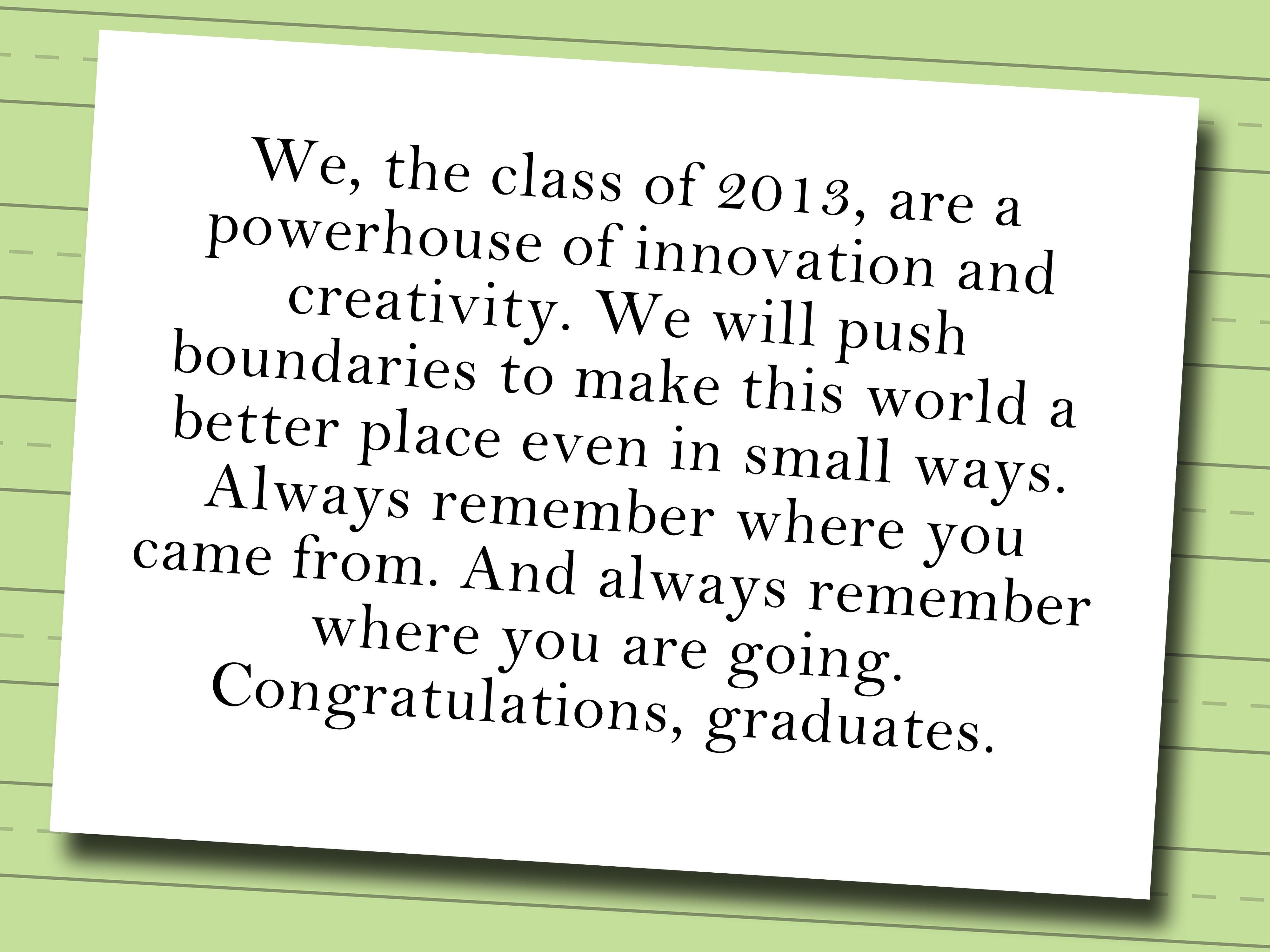 Write A Valedictorian Speech Graduation Speech Valedictorian