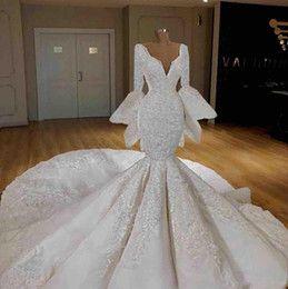 2019 Plus Size Arabic African Mermaid Amazing Lace Wedding Dresses With Detachable Skirt Long Sleeves Gorgeous Vestido De Novia Bridal Gowns Wedding Gowns With Sleeves Weddingdress From Gaogao8899, $165.73| DHgate.Com
