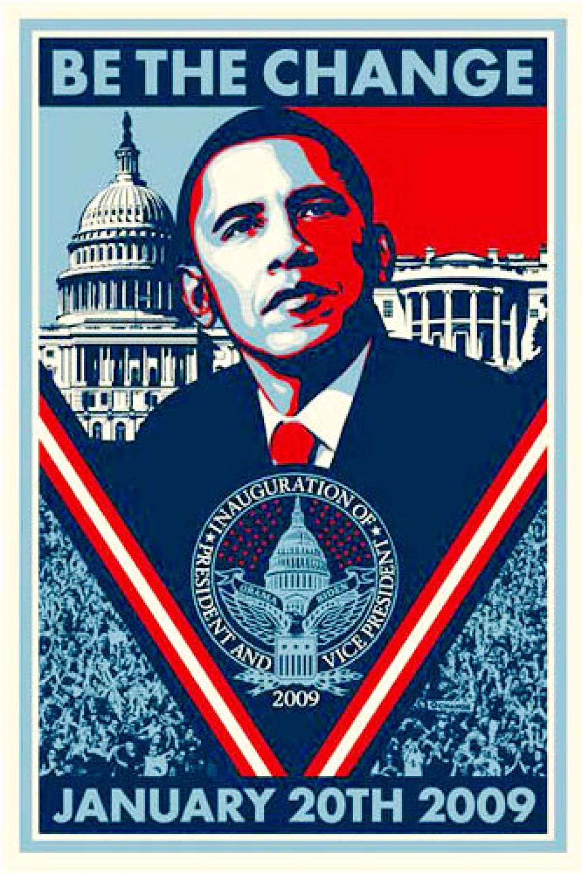 A Number Of Artists Like Shepard Fairey Answered Yes We Can When They Were Asked To Make Posters Of Shepard Fairey Obama Shepard Fairey Obey Shepard Fairey