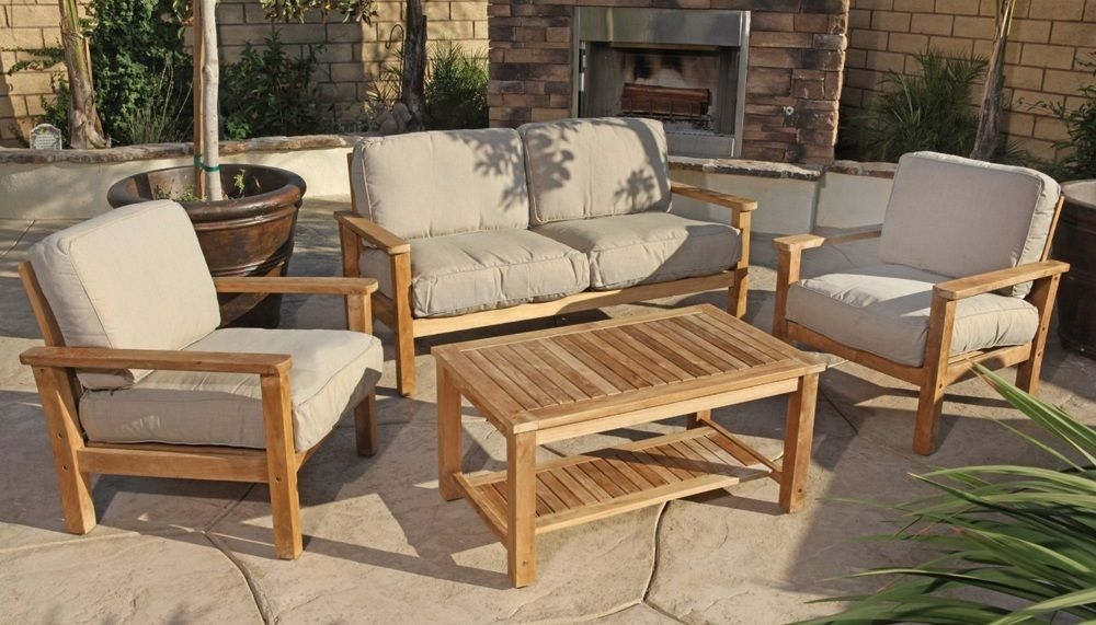 Teak Outdoor Sofa Set Modern Teak Outdoor Furniture Teak Patio