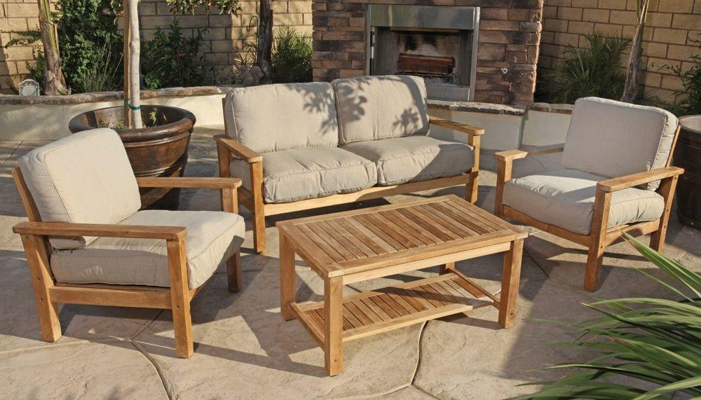 Teak Outdoor Sofa Set Modern Teak Outdoor Furniture Teak Patio