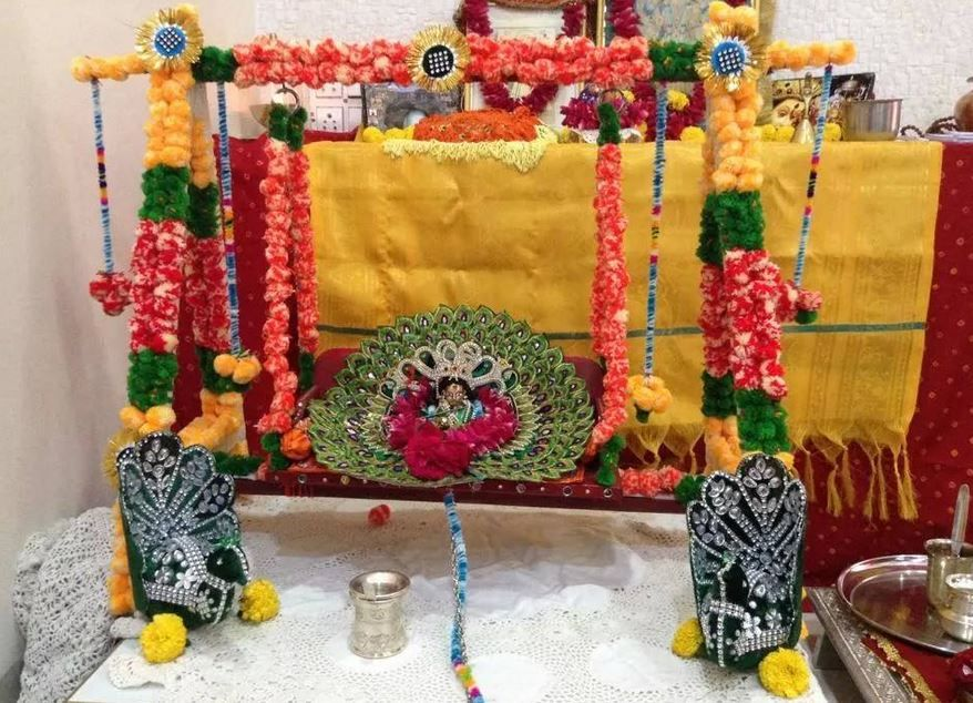 Pooja Room Decoration for Krishna Janmashtami Janmashtami