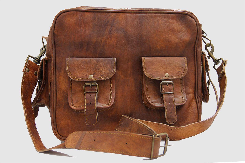 15 Inch handmade vintage leather doctor bag/ Macbook Bag/ Notebook Bag/ Cabin Bag/ Shoulder Bag/ Briefcase/ Messenger Bag/ Travel Bag. $79.00, via Etsy.