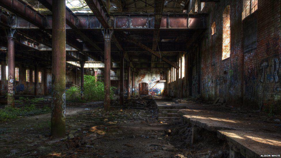 Abandoned warehouse inside