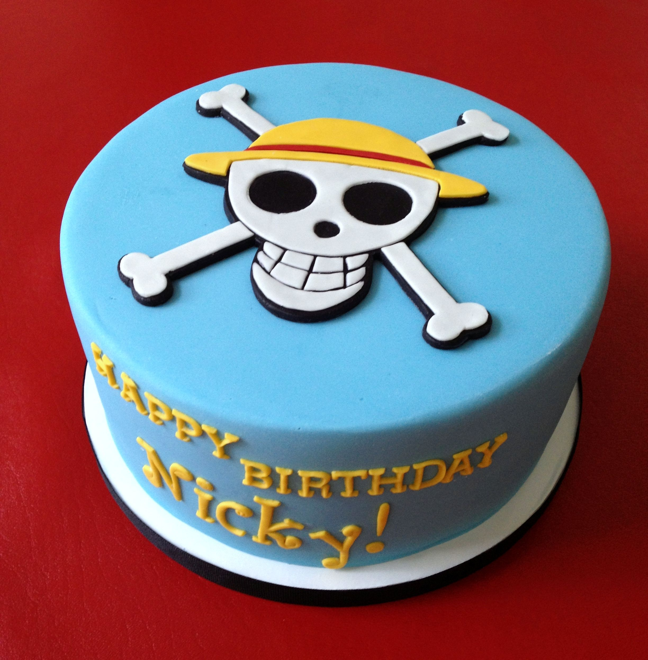 Cake ideas on pinterest pirate cakes marshmallow fondant and - One Piece Anime Cake All Marshmallow Fondant Recipe At Http