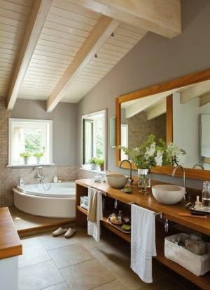 salle de bain zen sous pente, idees deco salle de bain by iva Home