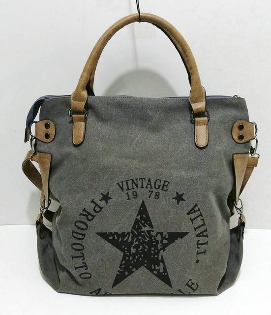 Star Bag Vintage Bolso de tela para mujer, diseño de estrella