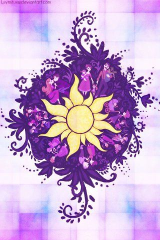Tangled Symbol Thinking About Creating This And Framing It For Lily S Side Of The Room For When She Is With Us Disney Rapunzel Disney Art Disney Wallpaper