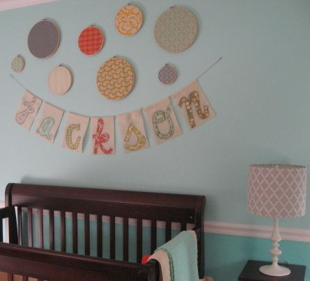 Diy Baby Name Art In Nursery Disney