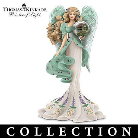 "Thomas Kinkade Angel Paintings | Thomas Kinkade Angel Figurines With ""Art Gazing Balls"""