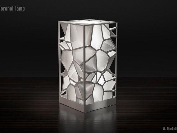 3d Printed Usb Lamp Abstract Voronoi Design Lampshade Desk Lamp Desktop Lighting Decor Desk Lamp 3d Printing Art 3d Lamp Lamp Design