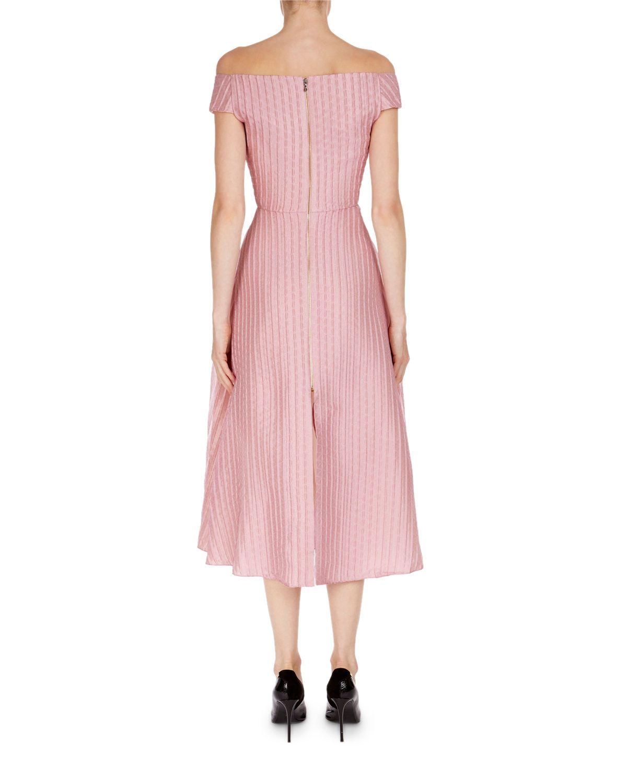 Bentham Off-the-Shoulder Tea-Length Dress | Tea length dresses ...