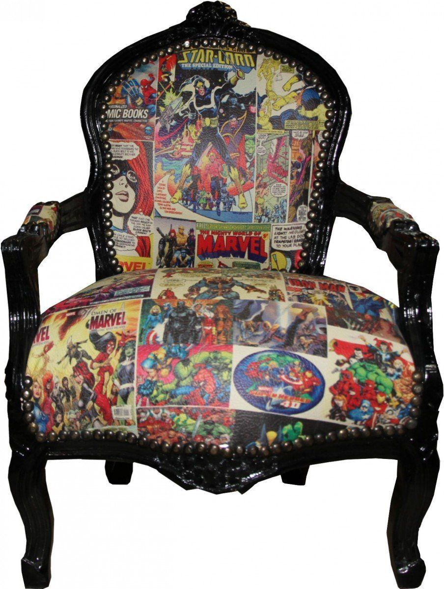 Cooler Barock Sessel Fur Marvel Comic Fans Barock Kinder Stuhl Mit