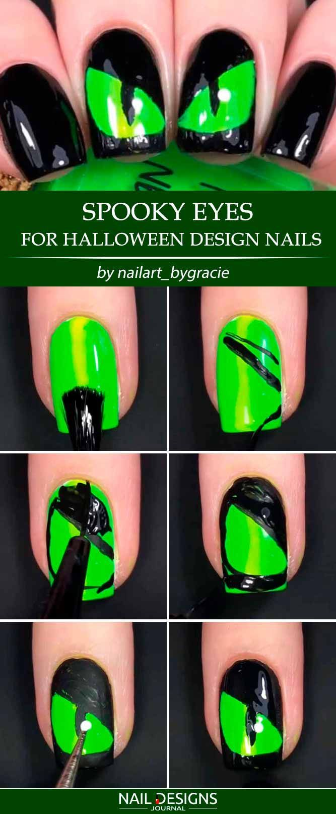 25 creative but easy halloween nails designs you can copy | nail