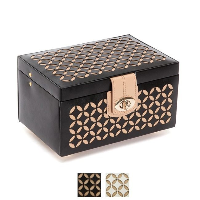 Organize your jewelry with this elegant Chloe jewelry box. Its small size offers plenty of storage without taking up too much space.