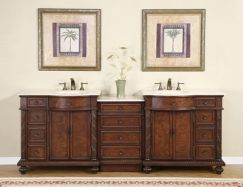 90 Inch Traditional Double Bathroom Vanity With Marble Double Sink Bathroom Vanity Double Vanity Bathroom Bathroom Vanity 90 inch bathroom vanities