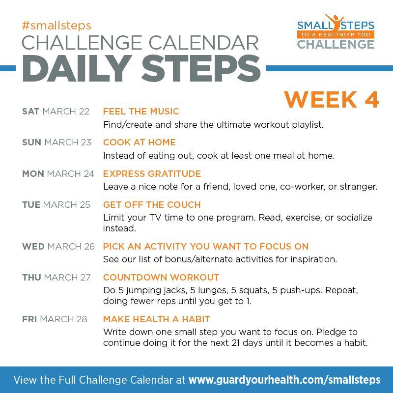Daily health challenge