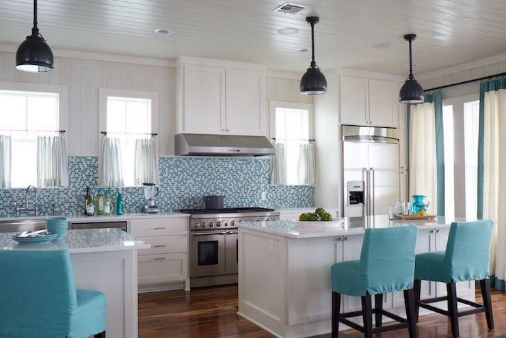 Turquoise Kitchen Design Cottage Kitchen Tracery Interiors