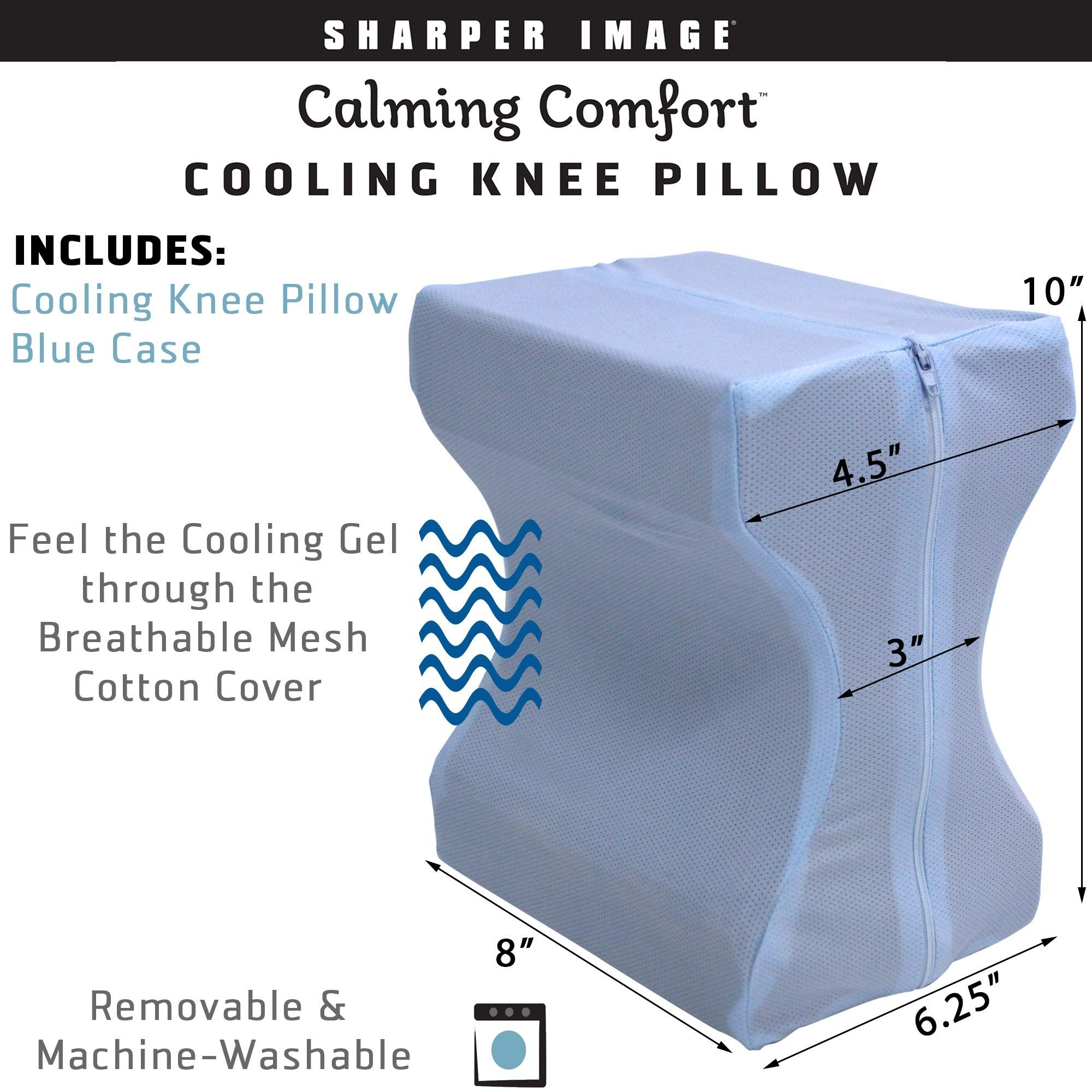 Calming Comfort Cooling Knee Pillow By Sharper Image Memory Foam