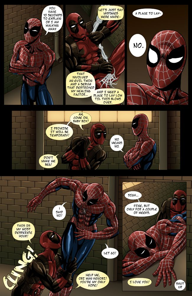 Spideypool Comic Never Say Never Page 5 By Jijikero -3311