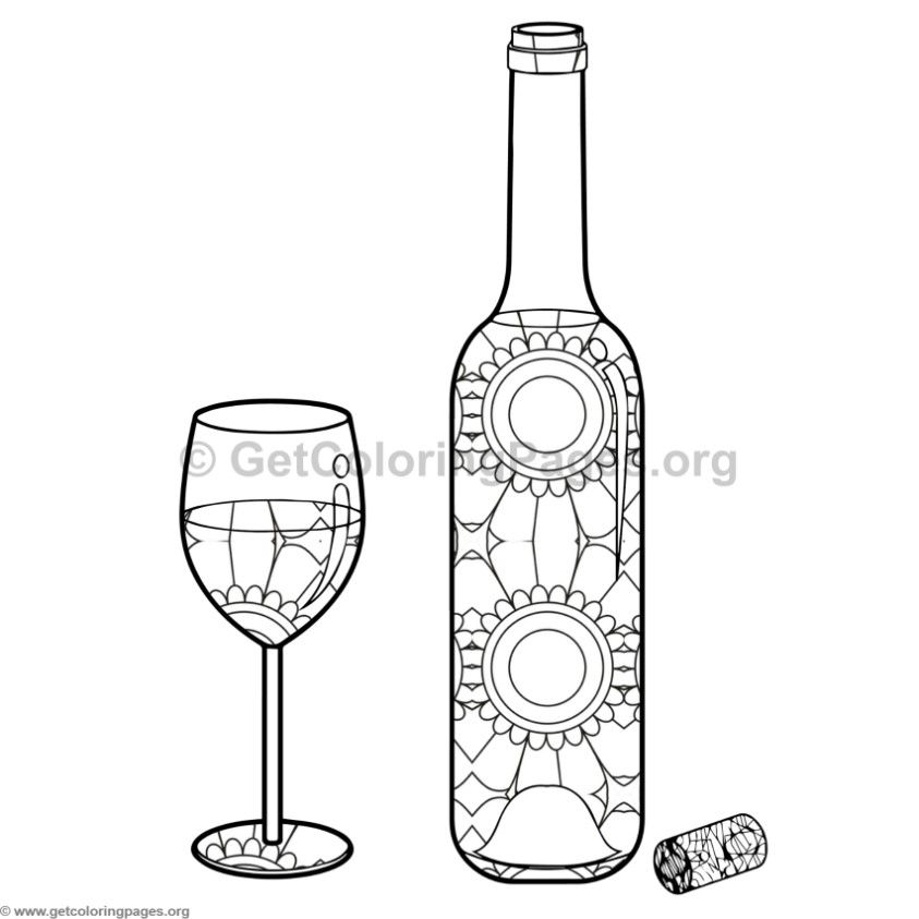 Pin By Briyanna Carroll On Color Me Sane Bottles Decoration Food Coloring Pages Bottle