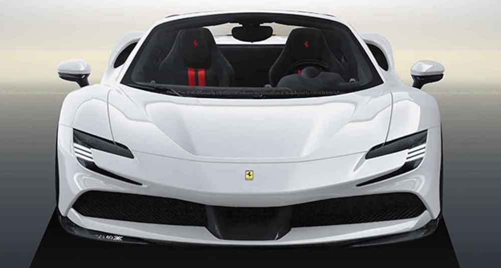 اللمحات الأولى من فيراري أس أف 90 سبايدر 2022 الصاروخ الايطالي المكشوف موقع ويلز Ferrari Super Cars Sports Car