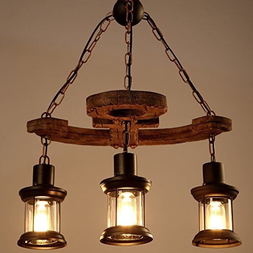 LightInTheBox 3 Heads Industrial Loft Style Amercian Countryside ...