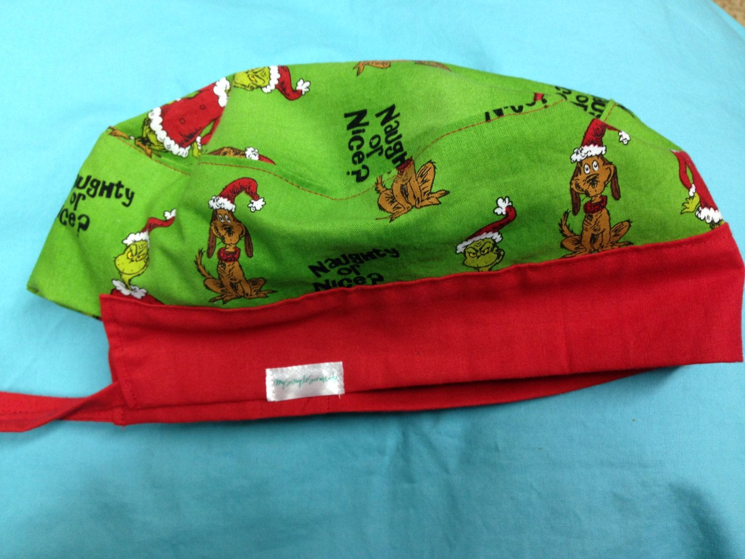 60fb149e3b0 How the Grinch Stole Christmas Surgical Scrub Cap by SimpleScrubLife on Etsy
