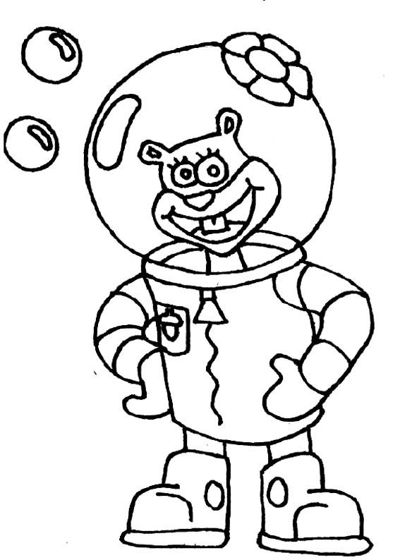 Sandy friend spongebob coloring page spongebob coloring for Sandy cheeks coloring pages
