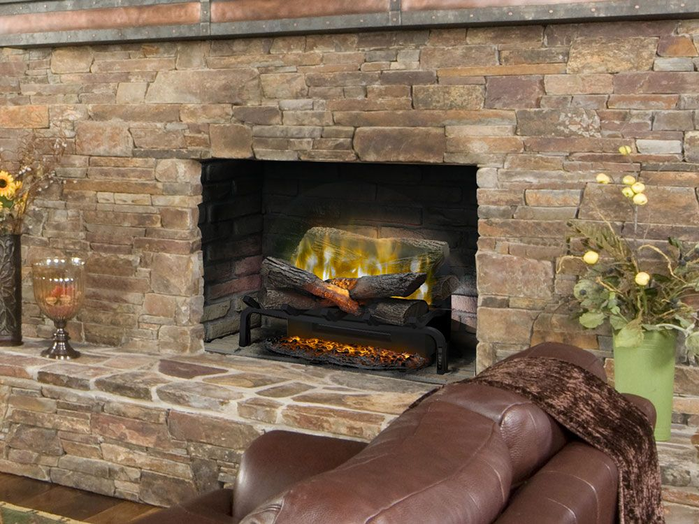 Dimplex 20 In Revillusion Electric Fireplace Insert Log Set With