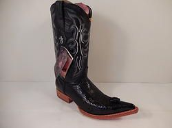 de4ec3c98b5 Los Altos Cobra Head Cowboy Boots Black | Men Exotic Cowboy Boots ...