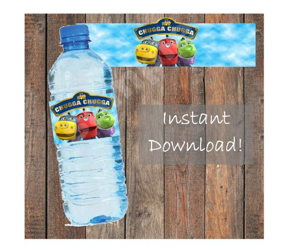 Chuggington Chugga Chugga Water Bottle Labels by KirstensKreation