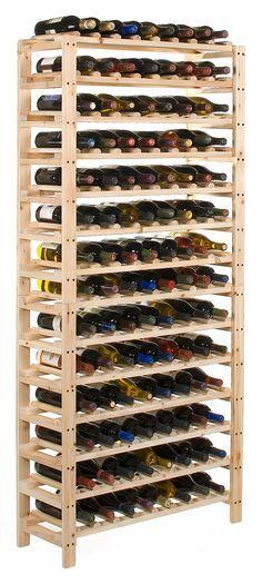 Diy A Huge Wine Rack Instructions Given On The Blog Com Imagens