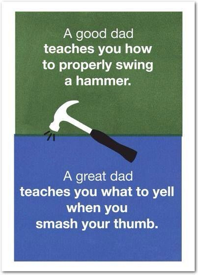 Hammer Swing Fathers Day Quotes Dad Quotes Heart For Kids